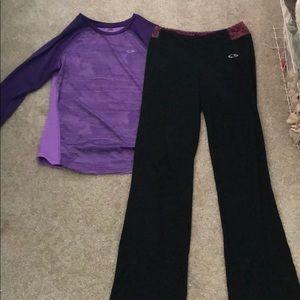 Longsleeve and yoga pants bundle-both size large